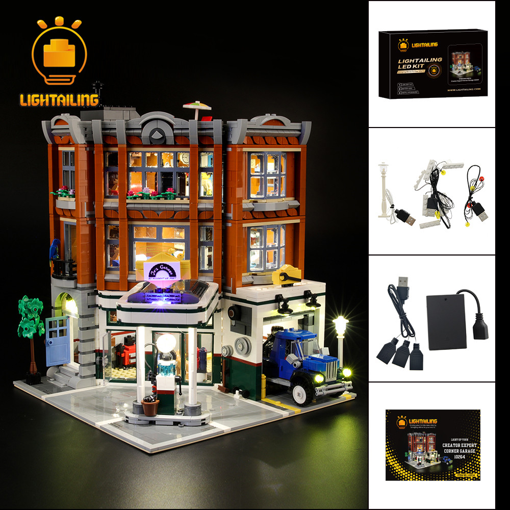 LIGHTAILING Led Light Up Kit For Creator Corner Garage Car Repair Station Light Set Compatible With