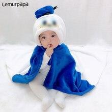 Мультяшное полотенце в форме утки для новорожденных накидка