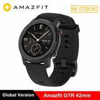 Huami AMAZFIT GTR 42mm Smartwatch 5ATM wodoodporna smart watch Bluetooth Monitor pracy serca 12 dni baterii 12 trybów sportowych