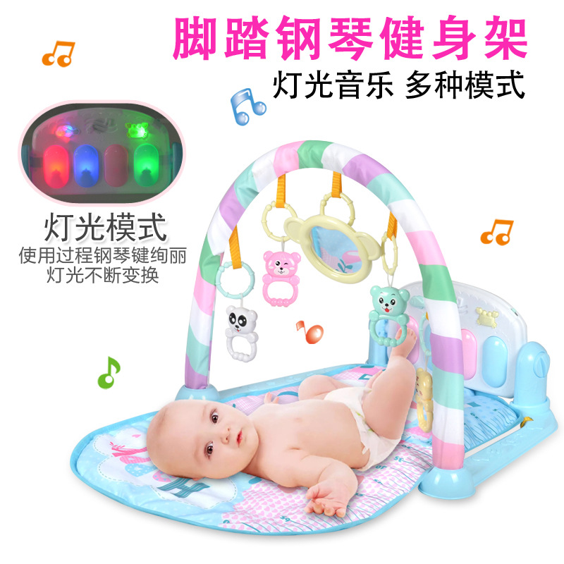 Infant Harmonium Music Game Blanket Kick And Play Piano Gym Mat Baby Early Childhood Story Machine Rattle Toy