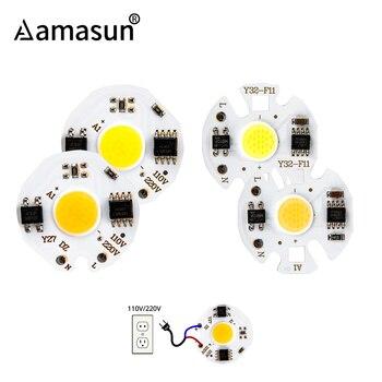 220V 110V 3W 5W 7W 9W COB LED Chip Y27 Y32 COB Chip Diode perlen Smart IC Nicht Benötigen Fahrer DIY Scheinwerfer Flutlicht