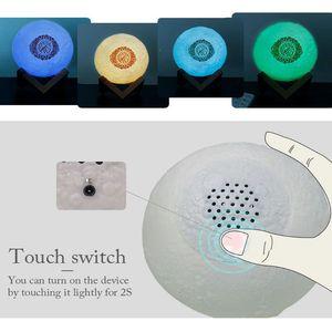 Image 4 - 1 סט קוראן Bluetooth רמקולים צבעוני שלט רחוק קטן אור ירח LED לילה אור ירח מנורת אור ירח אלחוטי קוראן רמקול
