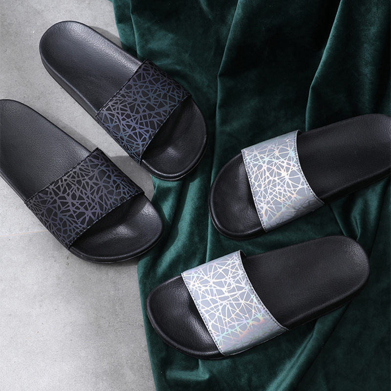 Posee Laser Summer Slippers  Woman Lady Fashion Soft Sole Platform Outdoor Slippers Flat Beach Slides Slippers Sandals  2915