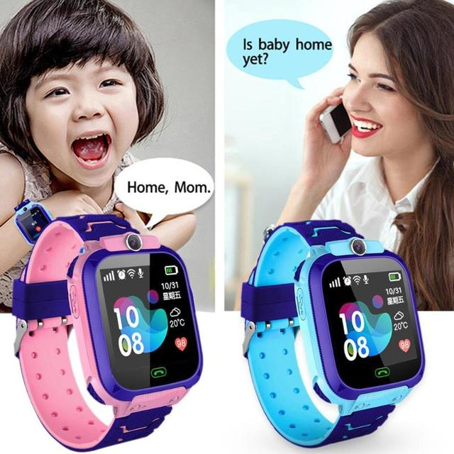 Children Smart Watch Camera Lighting Touch Screen SOS Call Touch Screen LBS Tracking Location Finder Kids Baby Smart Watch 2