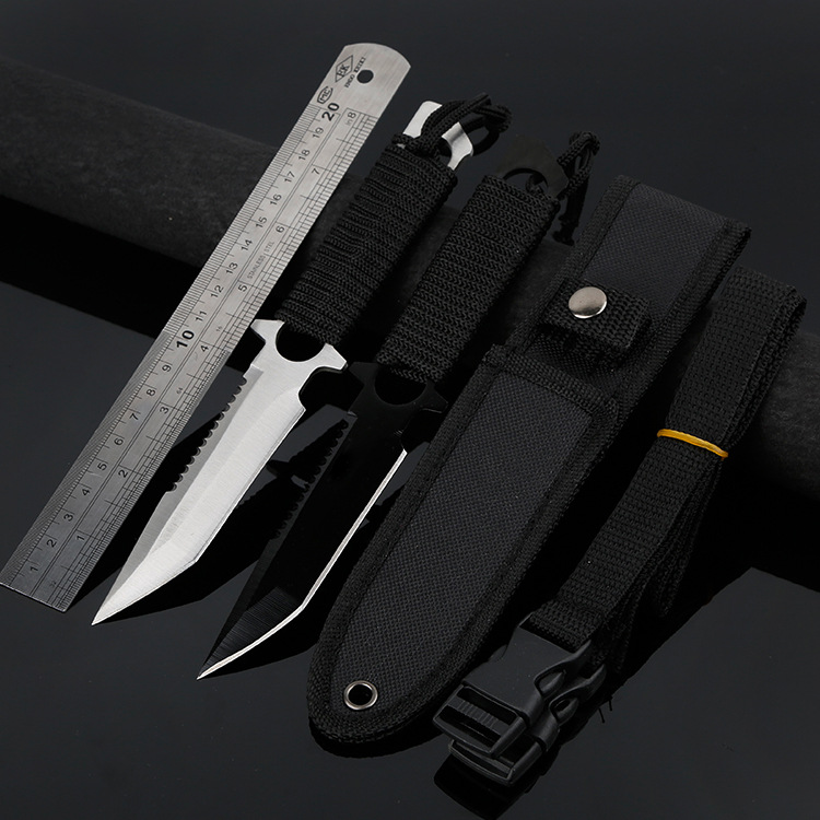 Open Country High-Hardness Sharp Tactical Knife Outdoor Knife Carry-on Small Straight Knife Wilderness Survival Non-Folding Knif