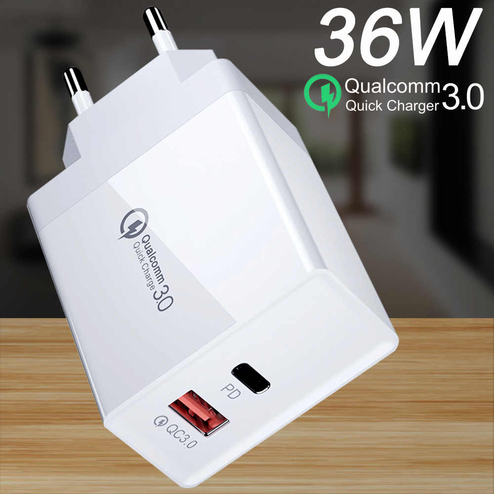 36W Mobile phone Charger USB Charger Quick Charge 3.0 FCP