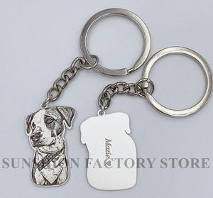 Image 5 - Pet Custom Keychain Necklace Personalized Jewelry 925 Sterling Silver Necklaces for Women Men Jewelry Memorial Gift