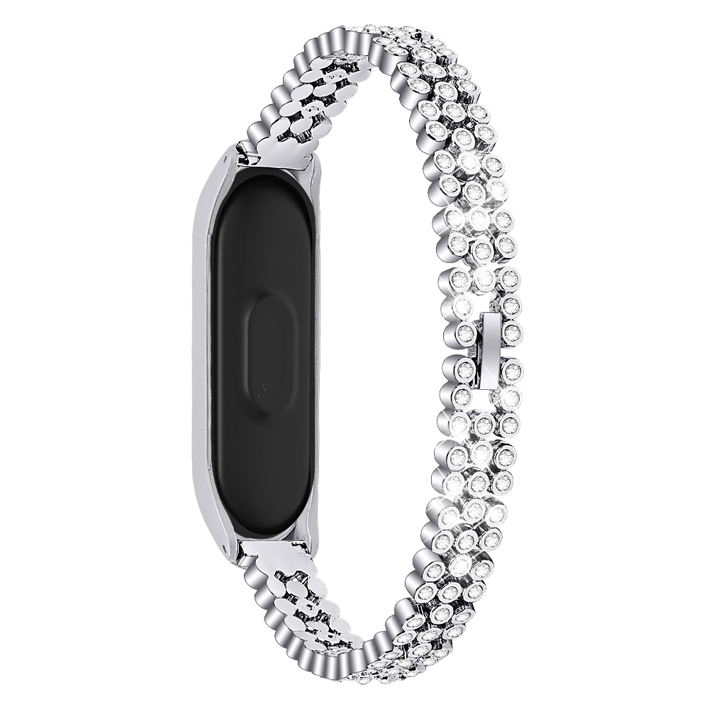 Diamond Metal Strap For Xiaomi Band 4 And 3 Stainless Steel Wristband Smartband Xiomi Xaiomi Xiami Xaomi Xaiomy Bracelet