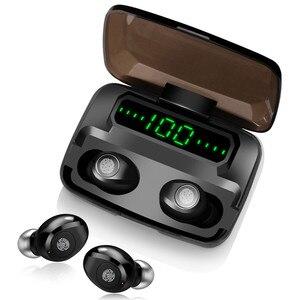 Image 5 - 120 שעות המתנה אוזניות אלחוטי אמיתי סטריאו TWS F9 אוזניות Hifi Bluetooth 5.0 אוזניות מגע בקרת אוזניות
