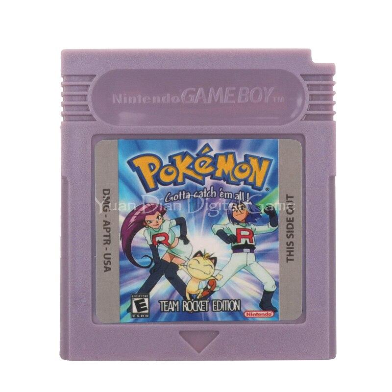 For Nintendo GBC Video Game Cartridge Console Card Poke Series Team Rocket English Language Version 1
