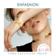 Enfashion מעגל טבעת צמיד manchette Noeud Armband עלה זהב צבע צמידי צמידים לנשים קאף צמידי pulseiras