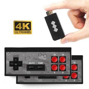 Image 2 - RETROMAX HDMI 4K Video Spiel Konsole Zwei Spieler Bauen in 568 Retro Klassische Spiele Wirless Controller HDMI Ausgang