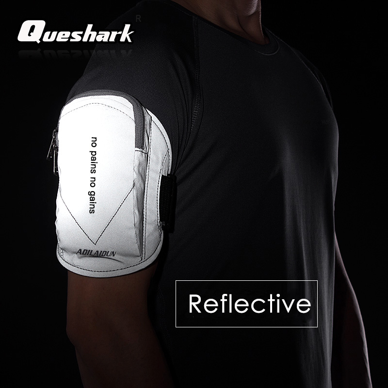 Reflective Waterproof Sport Arm Bag Gym Fitness Running Bag Armband Pouch Mobile Phone Holder Outdoor Sport Arm Wrist Pouch Bag