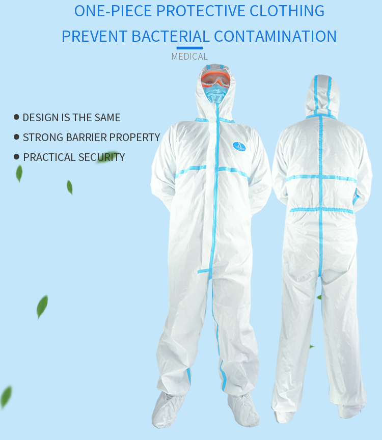 Coverall Disposable Anti Epidemic and Antibacterial Isolation Suit for Prevention from Viruses and Bacteria 6