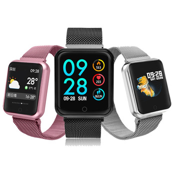 Smart watch P68 band IP68 waterproof smartwatch Dynamic heart rate blood pressure monitor for Android Sport Health watch