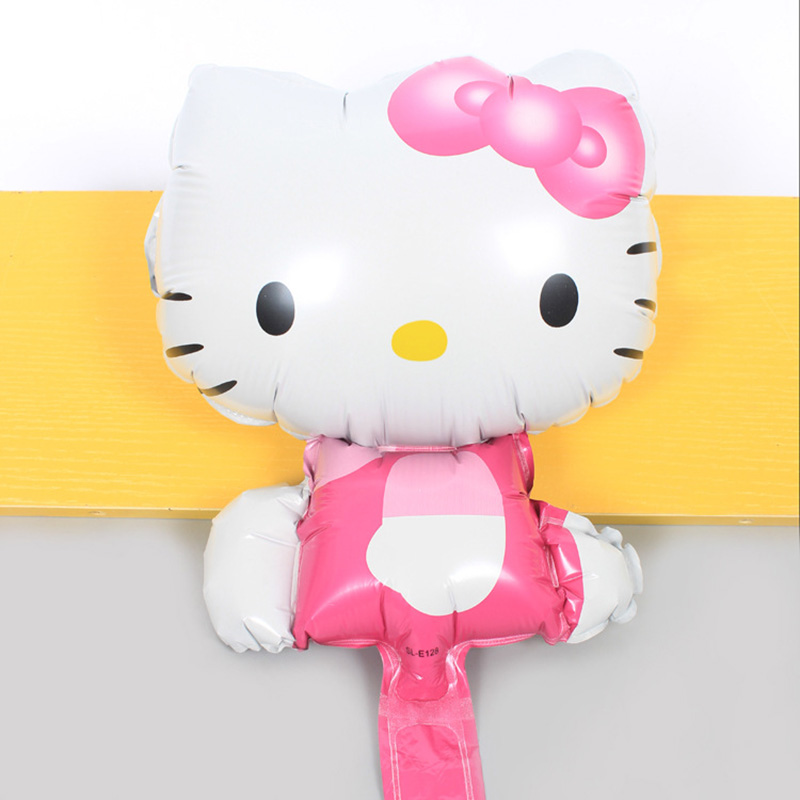 1PC 40*34CM Cartoon Hello Kitty <font><b>Birthday</b></font> Party <font><b>Decorations</b></font> Kids <font><b>Girl</b></font> Foil Balloon Princess <font><b>Birthday</b></font> <font><b>1</b></font> Year School Party Supplies image