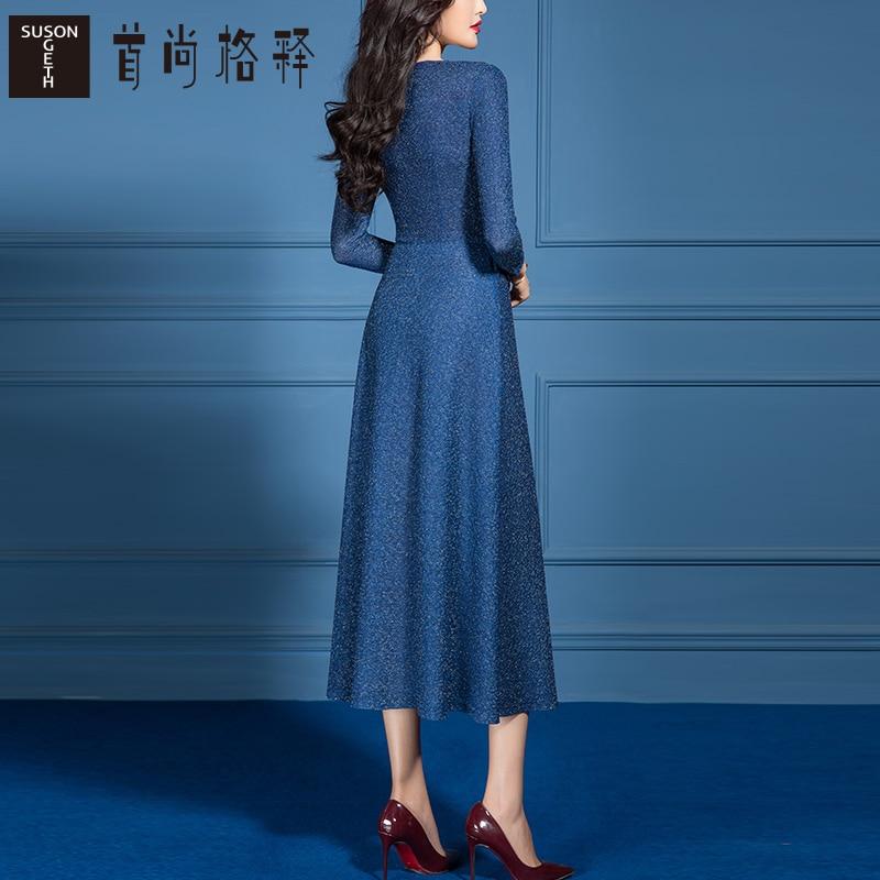 2021-Spring-New-Casual-Cross-V-Neck-A-Line-Dress-for-Women