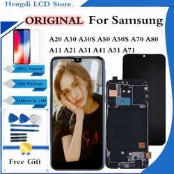 Оригинальный ЖК-экран A30 A50 для Samsung Galaxy A20 A30 A70 A30S A50S A71 A51, ЖК-дисплей с сенсорным экраном и дигитайзером в сборе, замена