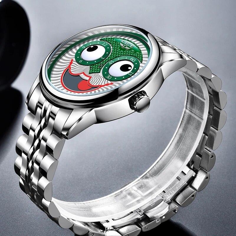 Top Luxury Automatic  Men's Clock  Wristwatch. 4