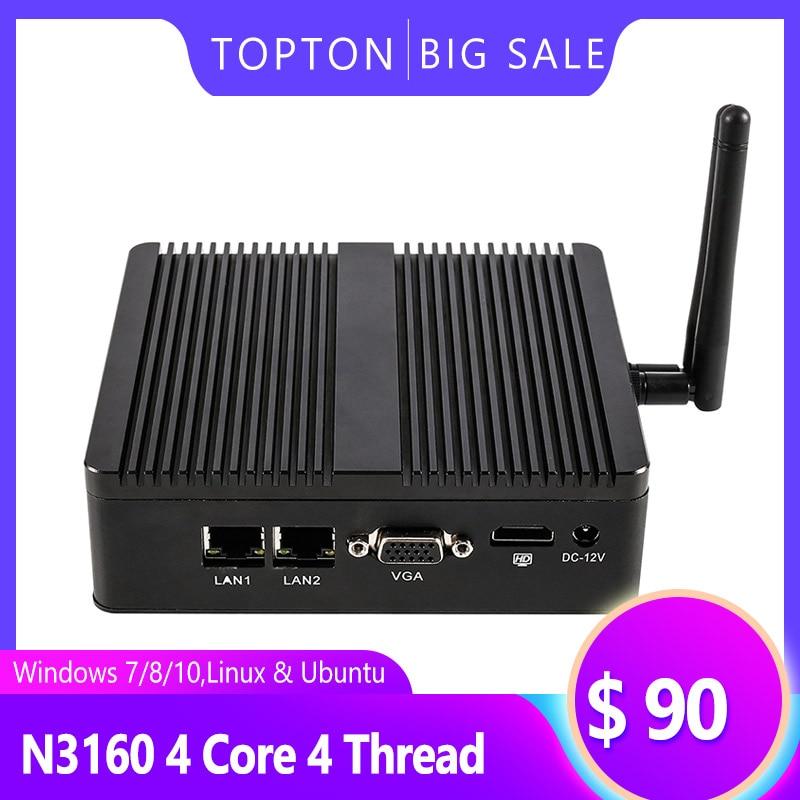Buy A Computer Intel Celeron N3160 Processor Win 7/8/10 4 Core 4 Thread Mini Portable Computers With HDMI/VGA Port Windows Pc