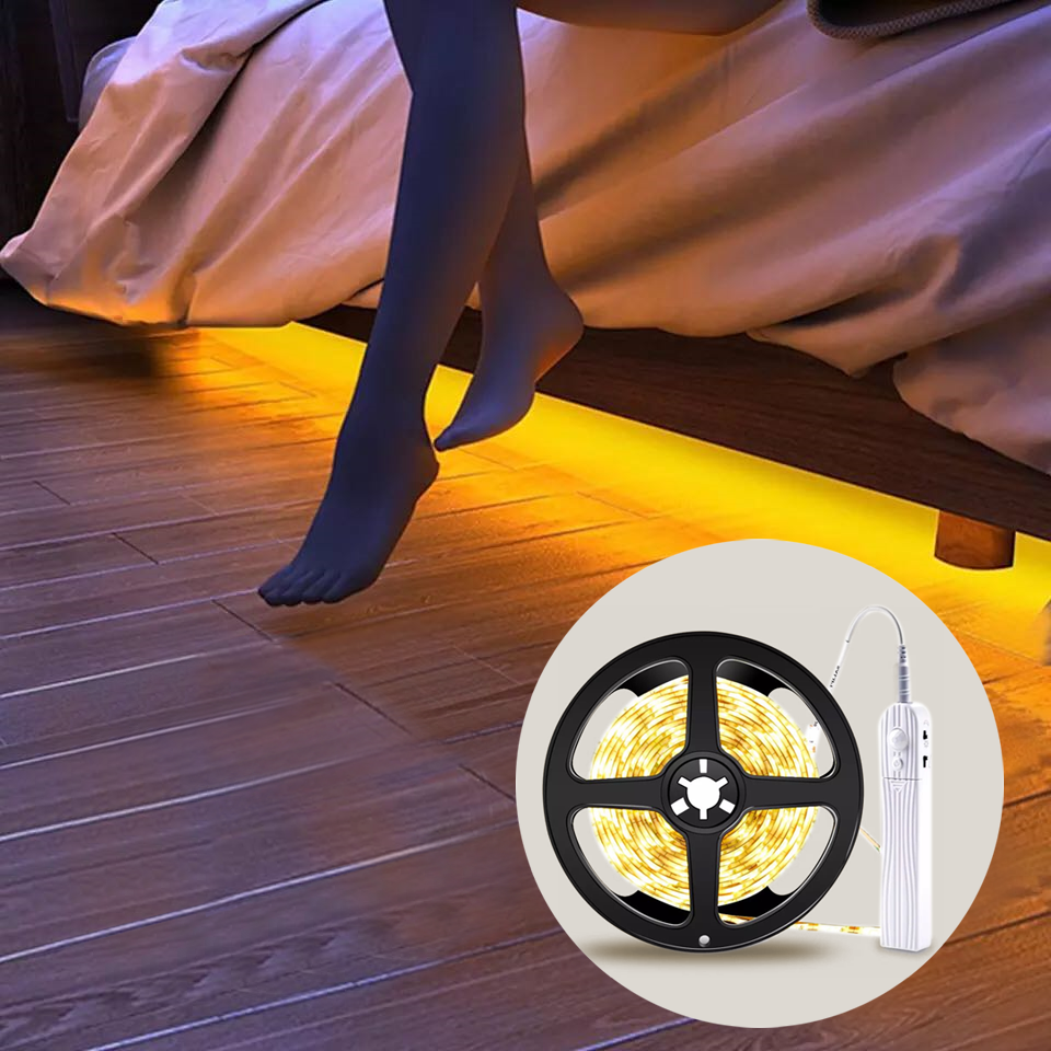 Pir Motion Sensor Led Strip Keukenkast Licht Tape Led Flexibele Strip Licht Waterdicht Slaapkamer Night Led Lamp DC5V SMD2835