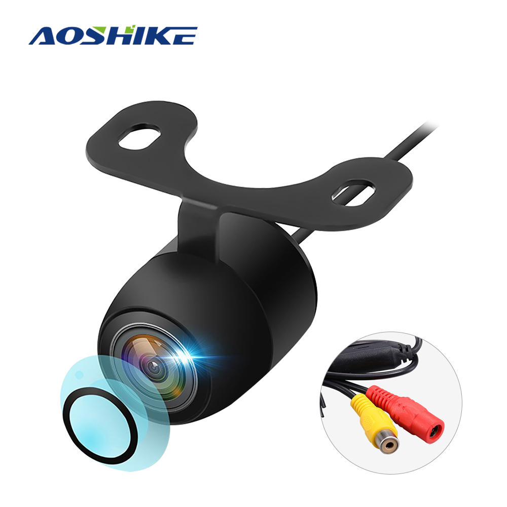 AOSHIKE 170 Degree Car Rear View Camera Universal LED Night Vision IP68 Waterproof Backup Parking Reverse Camera