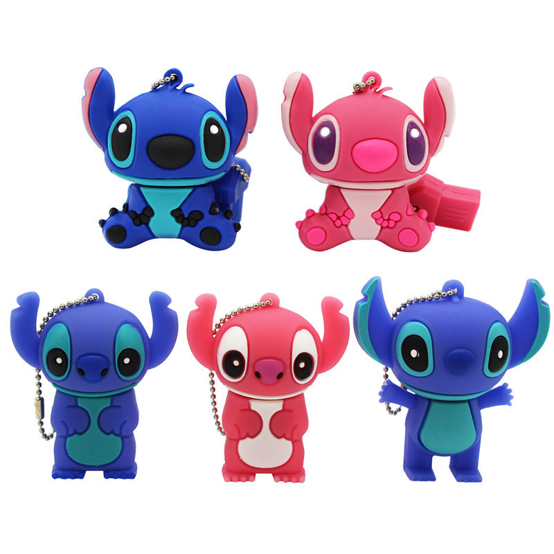 TEXT ME Cartoon  64GB  Cute Stitch USB Flash Drive 4GB 8GB 16GB 32GB Pendrive USB 2.0 Usb Stick
