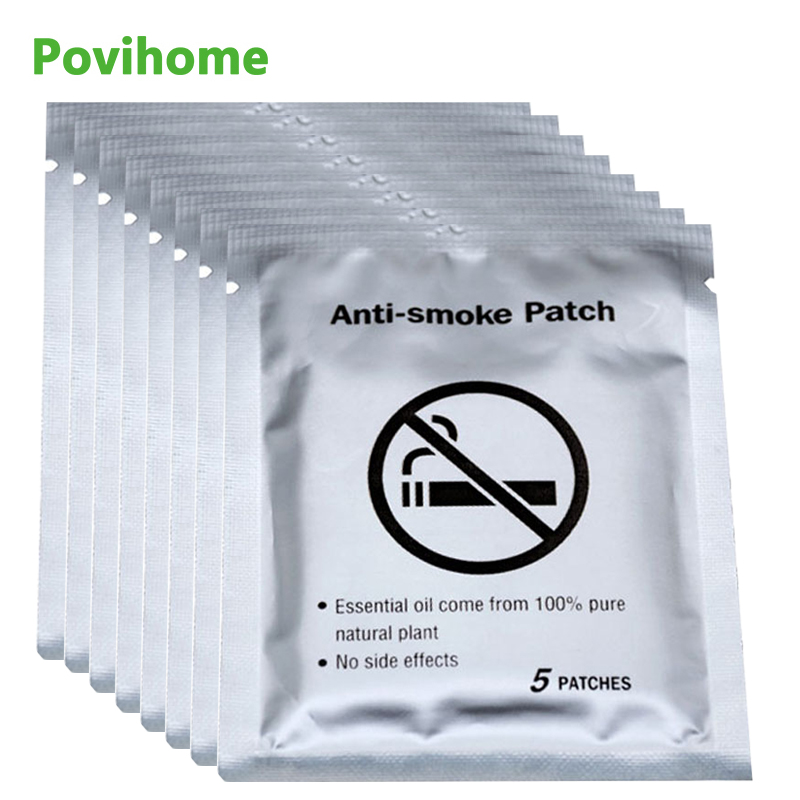 40pcs Stop Quit Smoking Cessation Pad 100% Natural Ingredient Anti Smoke Patch Chinese Herbal Medical Plaster Health Care D2052