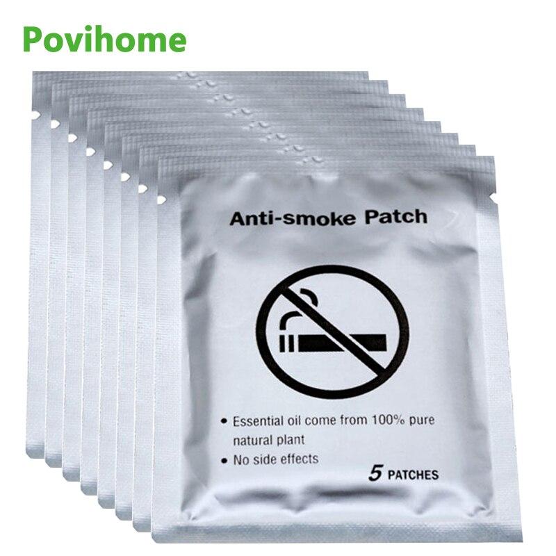 40pcs Stop Quit Smoking Cessation Pad 100% Natural Ingredient Anti Smoke Patch Chinese Herbal Medical Plaster Health Care D2052