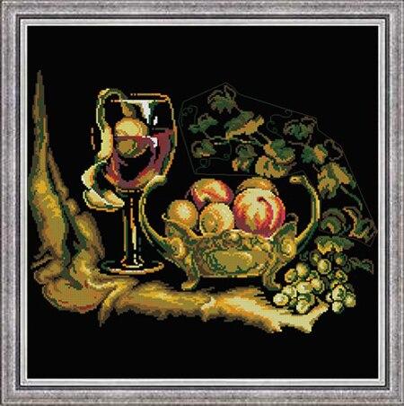 cs1134 夜光水果盘葡萄酒                     214X162X17