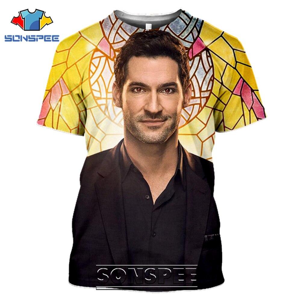 SONSPEE T-shirts Lucifer Morningstar 3D Print Men Women Casual Fashion Hip Hop Short Sleeve Streetwear Devil Tees Tops Shirt (13)