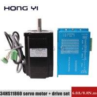 NEMA34 6.0A 8N.m Step servo motor HBS86 34HS11860 Closed Loop Servo Driver CNC 3D