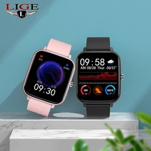 LIGE 2021 Smart Watch donna uomo Smart watch per Android IOS Electronics Smart Clock Fitness Tracker cinturino in Silicone Smart-watch