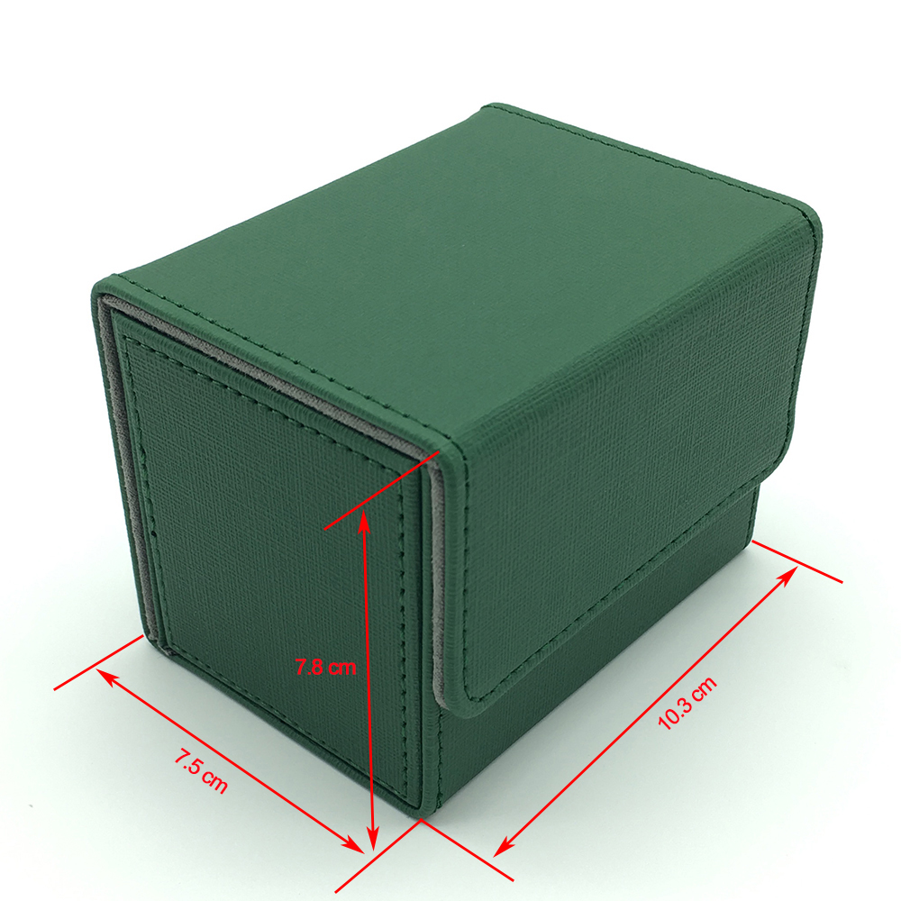 Small Size Side Open Magic Deck Box Deck Case Trading Card Box Pokemon Cards Box: Green