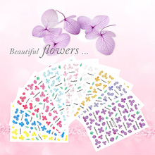 Artificial Flower Leaf Series Nail Art Sticker Water Transfer Nail Decals Adhesive Manicure Nail Tips Decoration Stickers F633 wuf 10 sheets nail stickers mixed designs water transfer nail art sticker watermark decals diy decoration for beauty nail tools