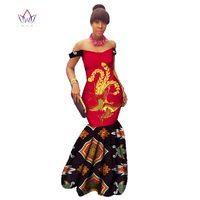 Plus Size ankara summer dresses women 2019 traditional fashion Clothing Africa print Wax Dashiki Sexy v neck dress regular WY577