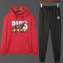 Мужские повседневные комплекты с капюшоном и буквенным принтом, новинка, мужская спортивная одежда, свободный спортивный костюм, толстовки+ штаны, мужские одноцветные спортивные костюмы для бега