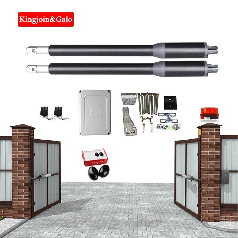 DC24V elektrische linear antrieb 200kg motor motor system standard automatische türöffner + 2 fernbedienungen Infrarot Warnung licht