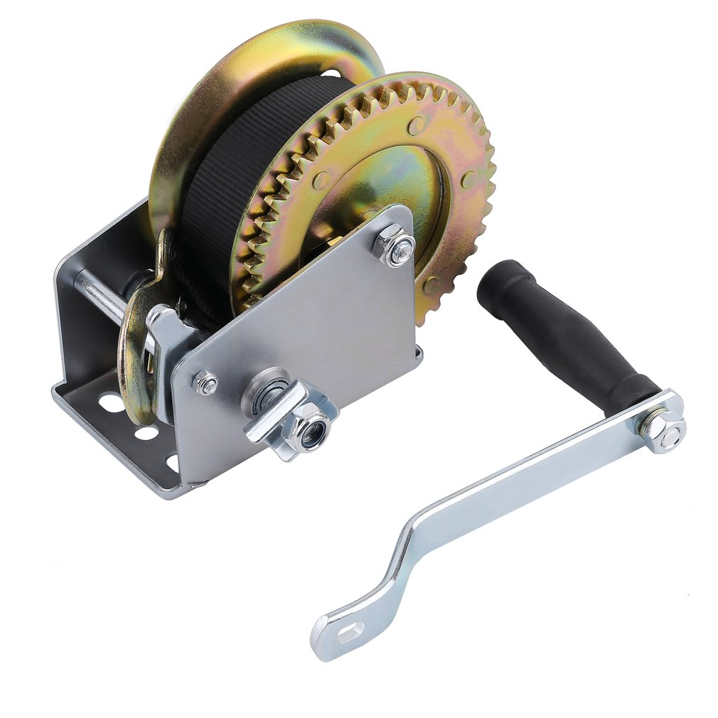 1200lbs*6m Heavy Duty  Boat Truck Auto Hand Manual Winch Smooth Action Ratcheting Handle Easy Pulling Lifting Sling Hand Tool