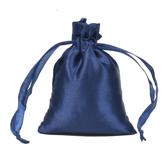 9*12cm cetim algodão sacos de cabelo cordão