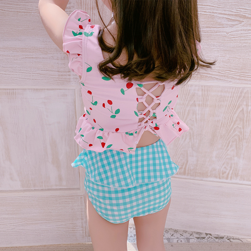 South Korea New Style KID'S Swimwear Girls Small CHILDREN'S Children Beach Dress-Princess Tour Bathing Suit