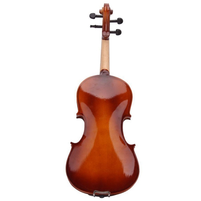 4/4 Full Size Natural Acoustic Violin Fiddle With Case Bow Rosin Mute Stickers 3