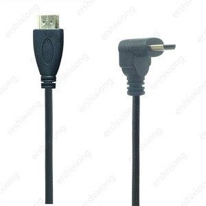 Image 2 - 0.5M 90 Gradi Angolo di Mini HDMI A HDMI Maschio M/M Connettore del Cavo V1.4 Per DSLR Video Camera monitor LCD
