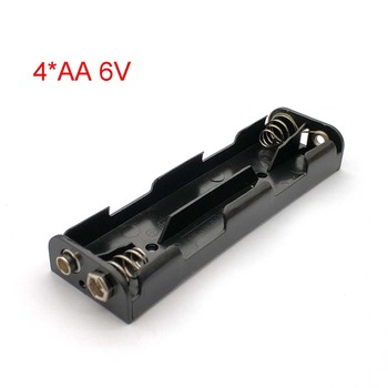 Long Strip Type 4 X AA Battery Case Holder 6V Back To Back Battery Storage Box 9V Button Battery Box image
