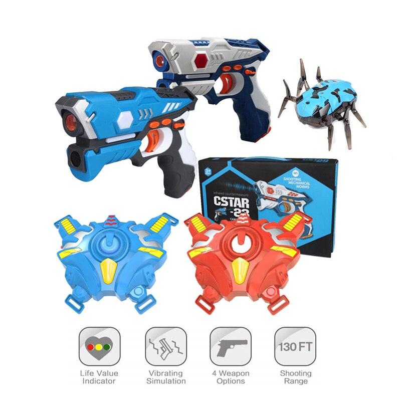 Infrared Laser Tag Electric Light Toy Guns Blaster Laser Battle Set Hot Sale Gun Brinquedos Game For Kids Adults Sports Toy