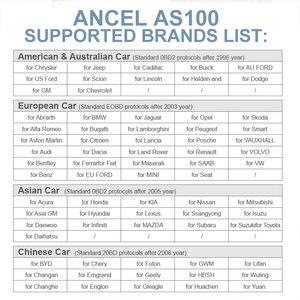 Image 5 - Ancel AS100 Obd2 سيارة أداة تشخيص OBD 2 السيارات الماسح الضوئي محرك محلل أداة رمز القارئ Obdii أداة مسح ضوئي PK ELM327 v1.5