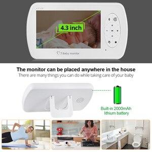 Image 2 - 4.3 אינץ בייבי מוניטור אלחוטי צבע מסך דו כיוונית אודיו תינוק מצלמה טמפרטורת זיהוי ביטחון מטפלת מצלמה ראיית לילה