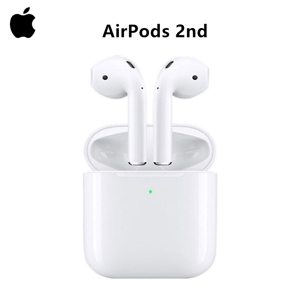 Airpods With Wireless Charging Case | Apple AirPods 2nd Bluetooth Headphone Original AirPod With Wireless Charging Case For IPhone IPad MacBook IPod Apple Watch