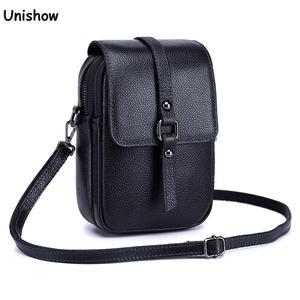 Genuine Leather Shoulder Bags Women Small Leather Crossbody Bag Brand Designer Women Phone Purse Lady Mini Messenger Bag