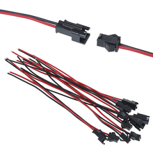 5 Pairs 15cm Long JST SM 2Pins Plug Male to Female Wire Connector Air docking LED male and female plug Cable SM/SYP/MX